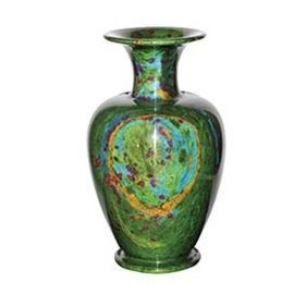"12""x20"" Large Solid Jade Vase"
