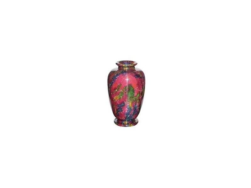 "7""x12.5"" Medium Solid Jade Vase"