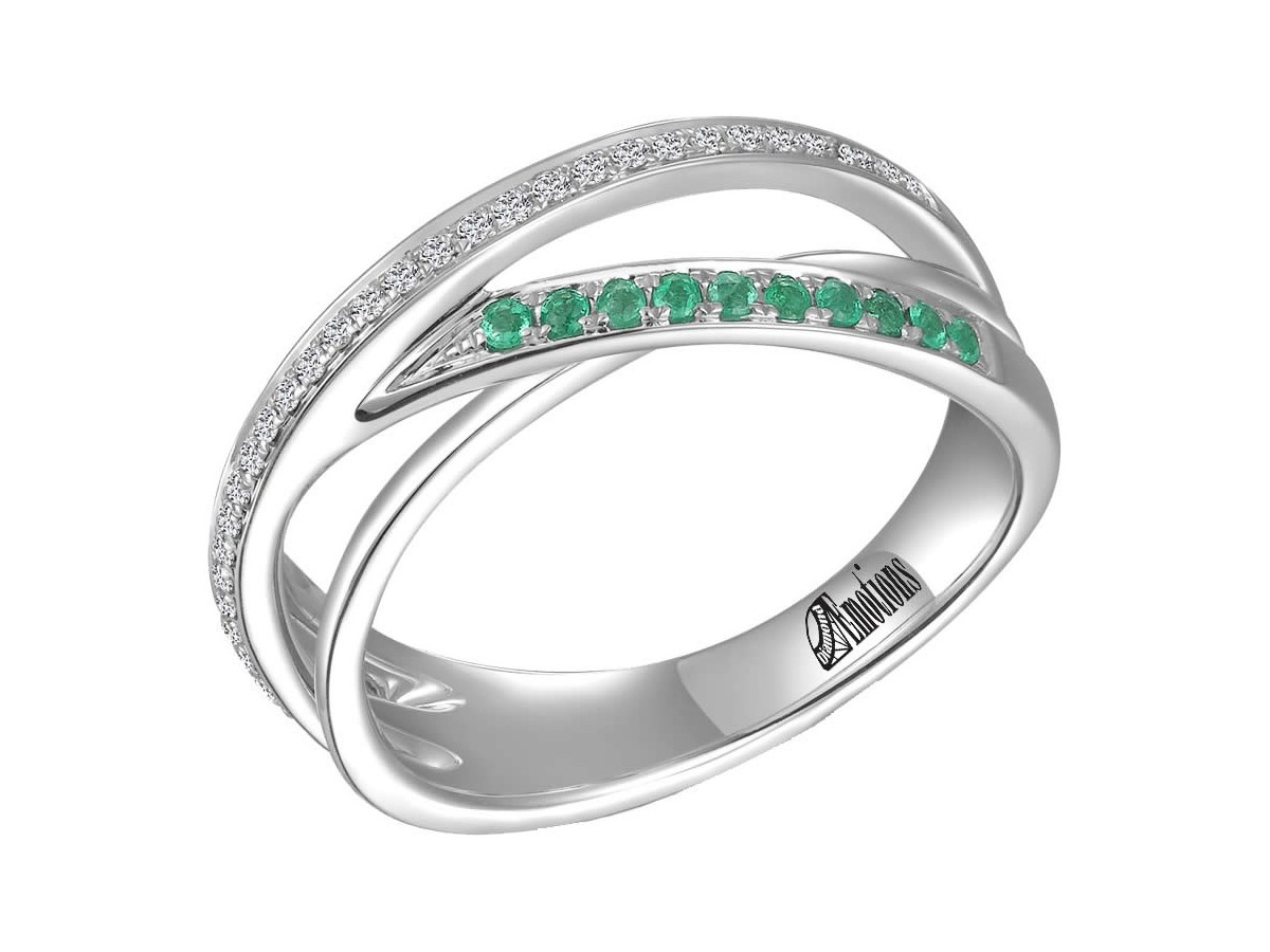 channel set and emerald wedding ring allison s