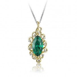 Emerald Pendant and Diamond Pendant