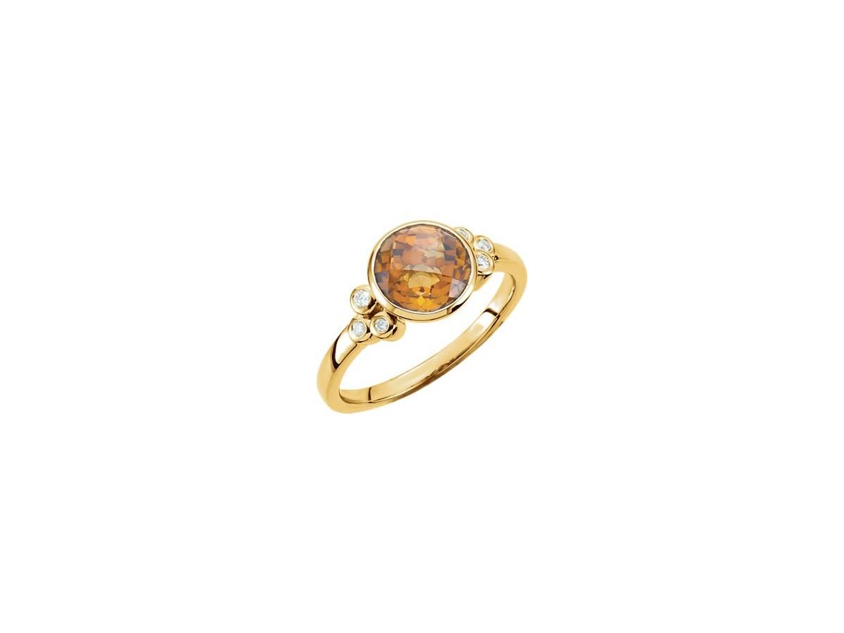 citrine accented ring allison s custom jewelry