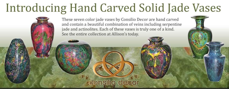 Consilio Solid Jade Vases